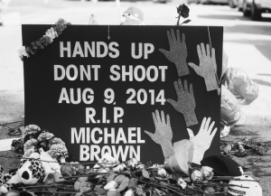 Mike Brown's memorial
